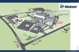 Gallipolis campus map