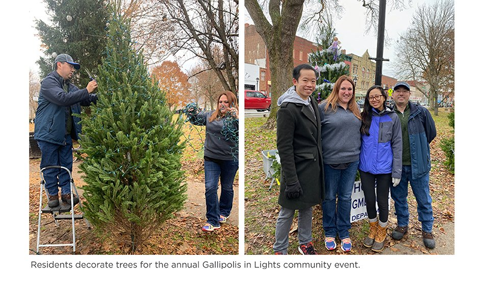 Residents decorate trees for the annual Gallipolis in Lights community event.