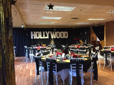 The celebrity dinner had a Hollywood Theme this year.
