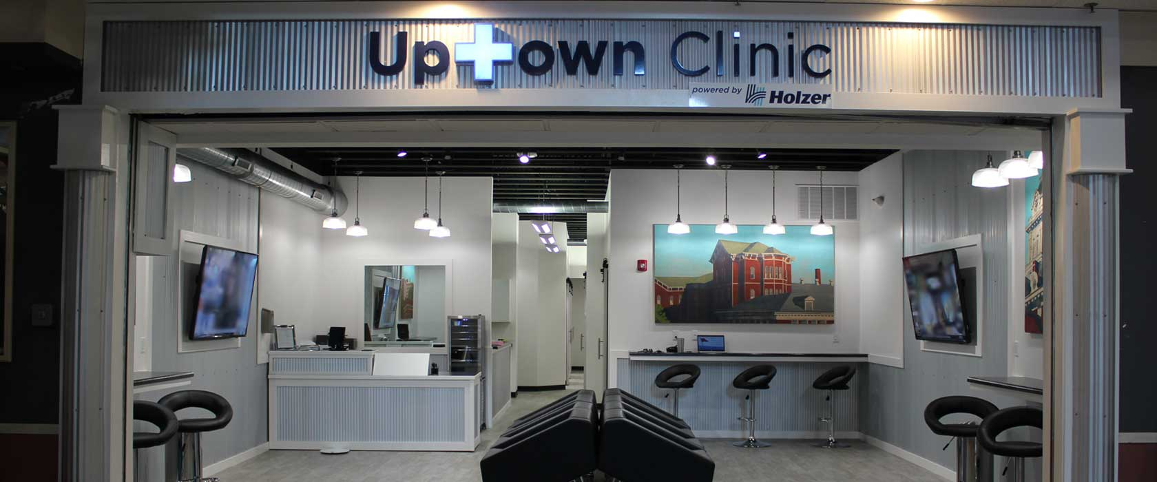 Banner: Uptown Clinic entrance