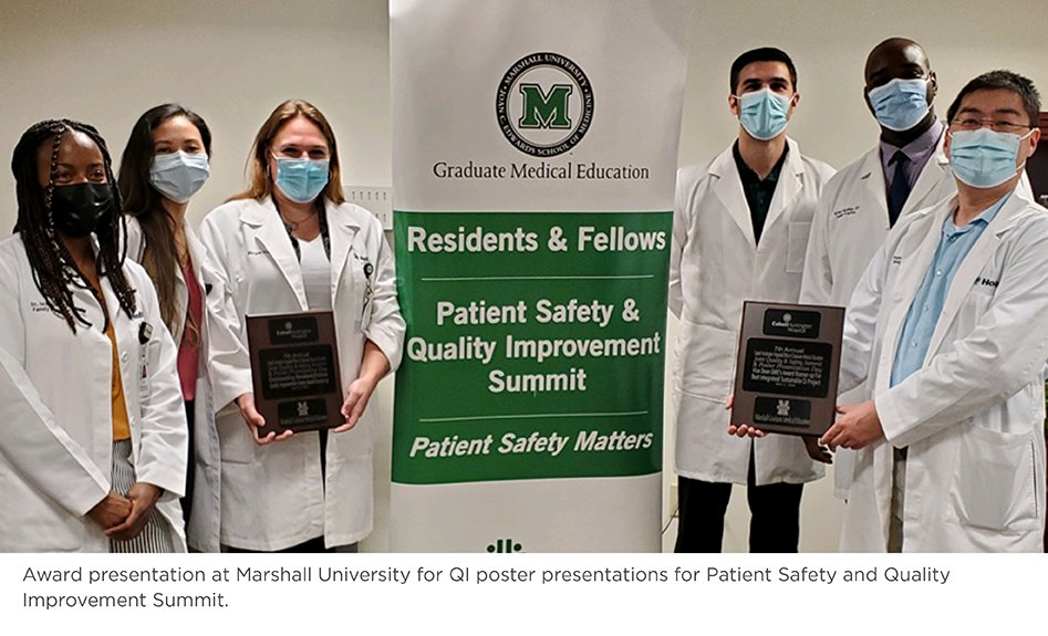 Award presentation at Marshall University for QI poster presentations for Patient Safety and Quality Improvement Summit.