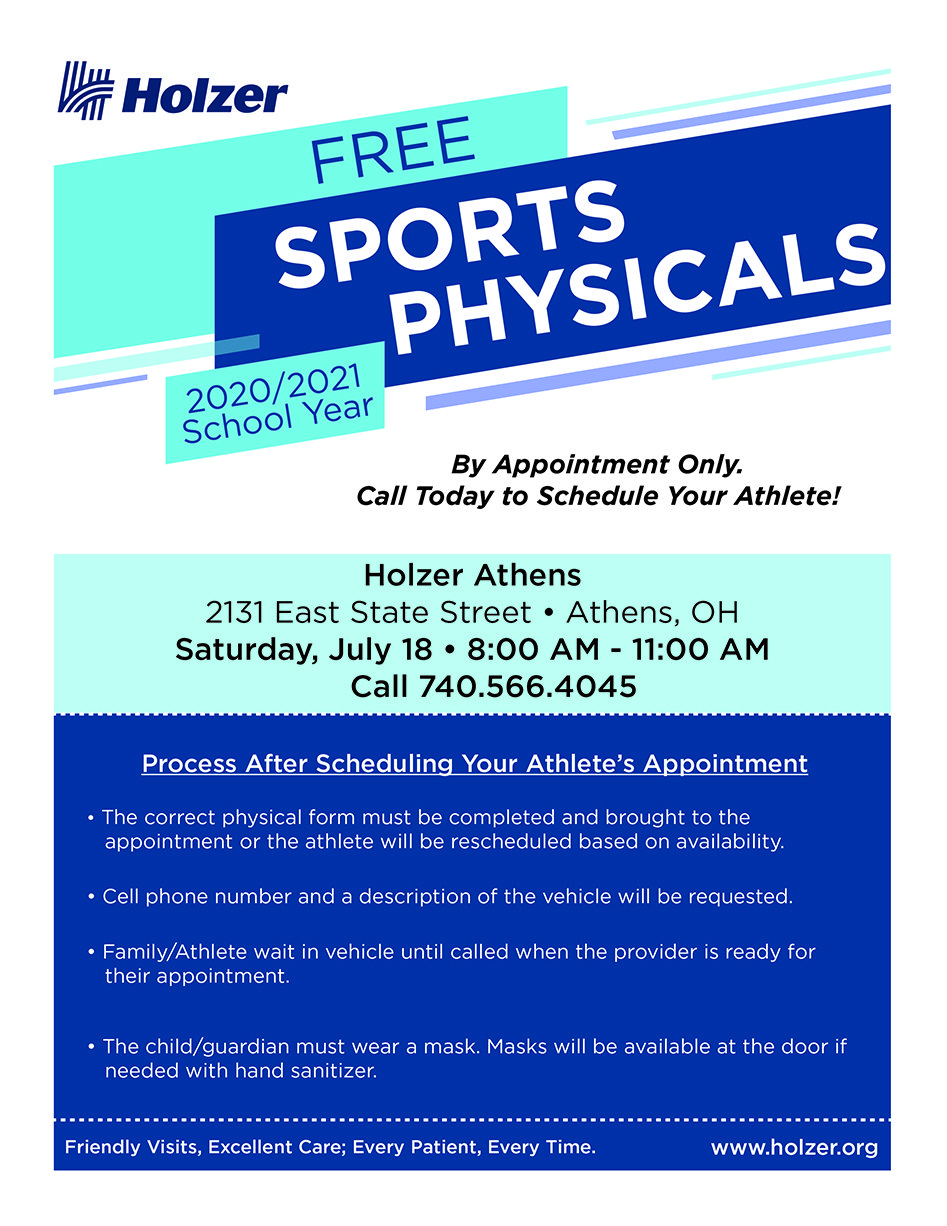 Athens Sports Physicals Information